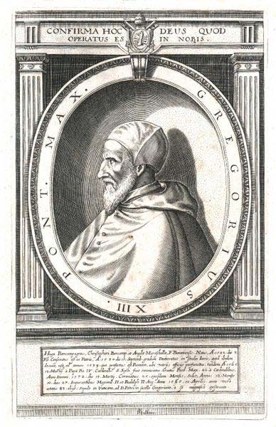 Drawing of Pope Gregory XIII